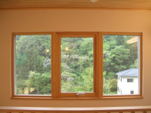 木製トリプルガラス